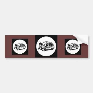 Armadillo Crossing Bumper Sticker