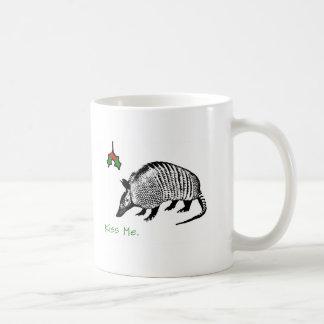 Armadillo Kiss Me Coffee Mug