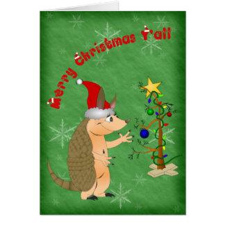 Armadillo Merry Christmas Card