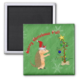 Armadillo Merry Christmas Magnet