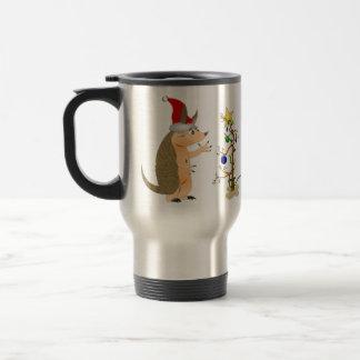 Armadillo Merry Christmas Travel Mug