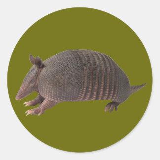 Armadillo plain round sticker