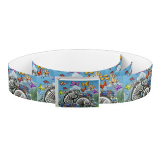 Armadillos Bluebonnets Butterflies Wildflowers Belt