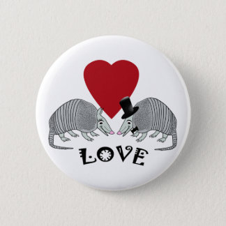 Armadillos in Love Buttons