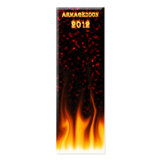 Armageddon 2012 fire and flames. pack of skinny business cards