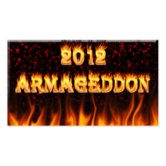 Armageddon 2012 fire and flames. pack of standard business cards