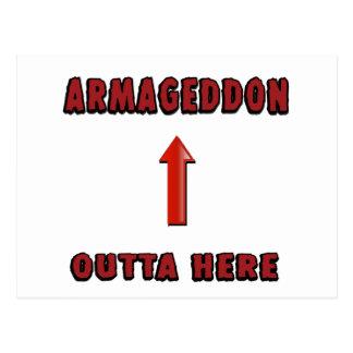Armageddon Outta Here End Times Merchandise Postcard