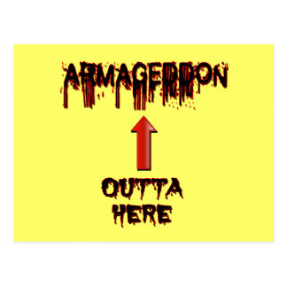 Armageddon Outta Here End Times Merchandise Postcard