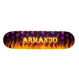 Armando skateboard fire and flames design