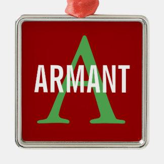 Armant Breed Monogram Silver-Colored Square Decoration