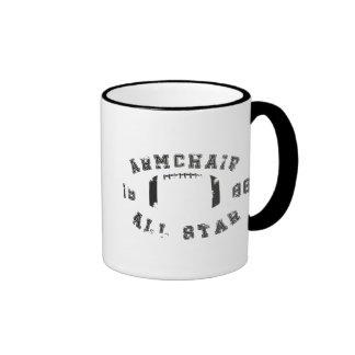 Armchair All Star Football Ringer Mug
