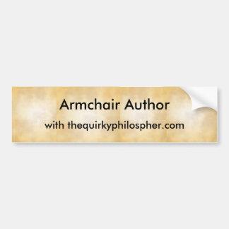 Armchair Author Bumper Sticker