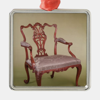 Armchair by Thomas Chippendale, c.1760 Christmas Ornament