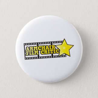 Armchair film critic 6 cm round badge