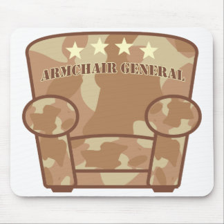 Armchair General - Desert Camouflage Mouse Pad