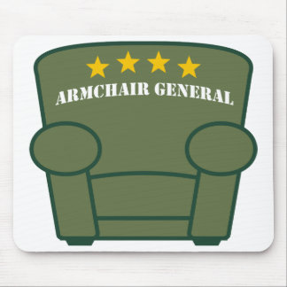 Armchair General - Khaki Mouse Pad