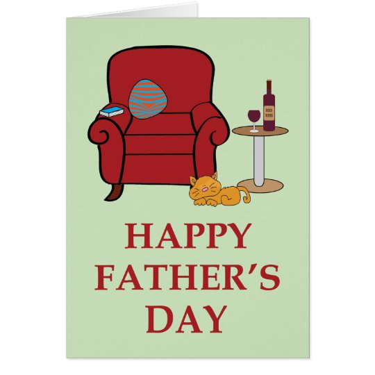 Armchair Happy Father's Day Card