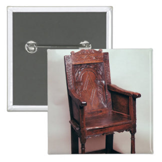 Armchair with arcaded back and boxed sides 15 cm square badge
