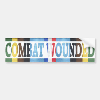 Armed Forces Exped. Medal Combat Wounded Sticker Bumper Sticker