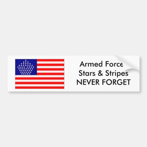 Armed Forces Stars & Stripes Bumper Stickers