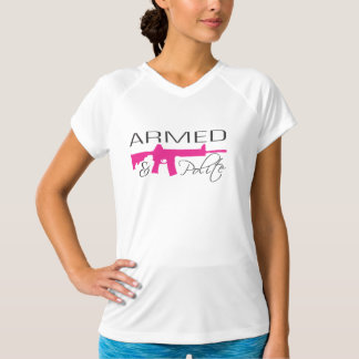 Armed & Polite T-Shirt - AR15, Pink