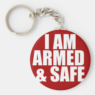 Armed & Safe Key Chain Key Chains
