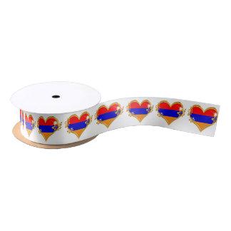 "Armenia 1.5"" Wide Satin Ribbon, 2 Yard Spool Satin Ribbon"