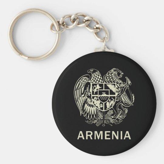Armenia Basic Round Button Key Ring