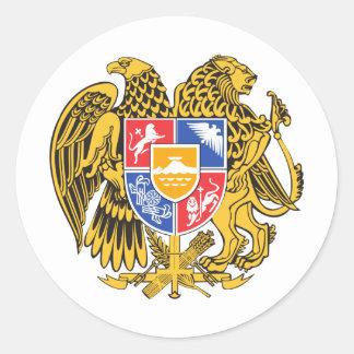 Armenia Coat of arm AM Classic Round Sticker