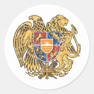 Armenia Coat Of Arms Classic Round Sticker