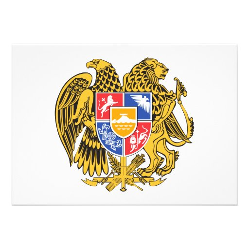 Armenia Coat of Arms Personalized Announcement