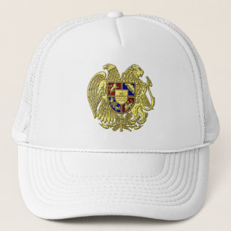 Armenia Coat of Arms Jewel Tones Trucker Hat