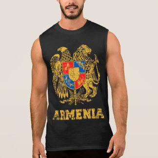 Armenia Coat of Arms Sleeveless Shirt
