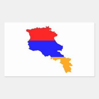 armenia country flag map shape symbol rectangular sticker