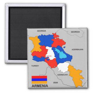 armenia country political map flag square magnet