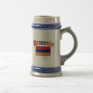 Armenia Flag 3 Color Beer Stein