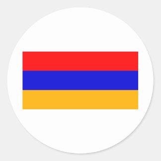 Armenia Flag AM Classic Round Sticker