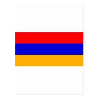 Armenia Flag AM Postcard