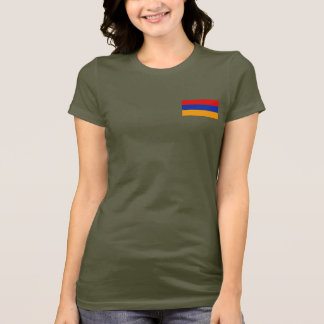 Armenia Flag and Map dk T-Shirt