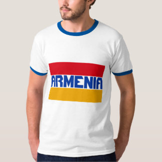 Armenia Flag Blue Stripe Text T-Shirt