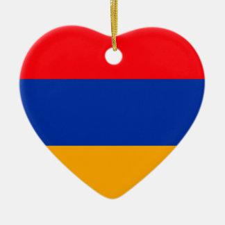 Armenia Flag Ceramic Heart Decoration
