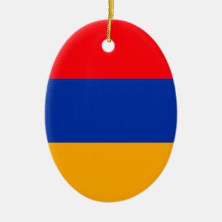 Armenia Flag Ceramic Oval Decoration