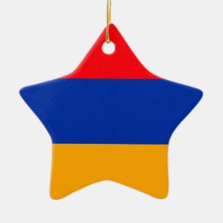 Armenia Flag Ceramic Star Decoration