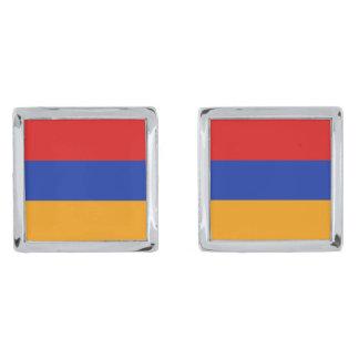Armenia Flag Cufflinks Silver Finish Cufflinks