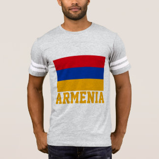 Armenia Flag Customizable Orange Text T-Shirt