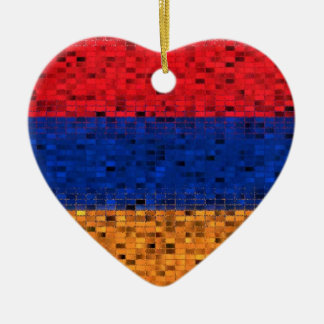 Armenia Flag glitter ornament