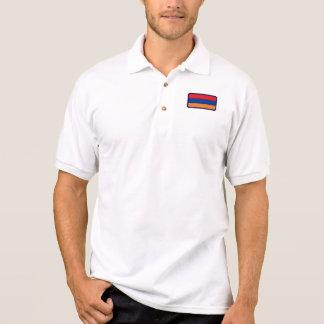 Armenia flag golf polo