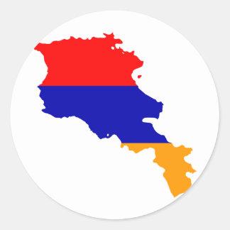 Armenia Flag map AM Classic Round Sticker