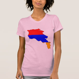 Armenia flag map T-Shirt