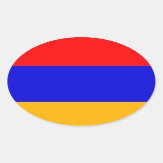 Armenia Flag Oval Sticker